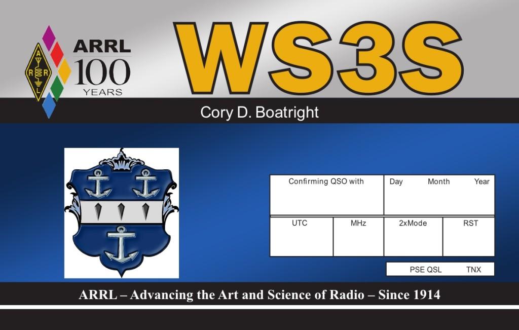 WS3S QSL Card